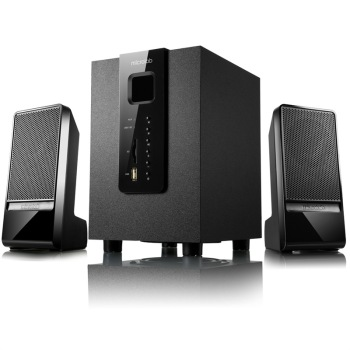 microlab麦博_麦博(microlab) M100U 支持SD卡、U盘 2.1多媒体音箱 音响 黑色 - 唯我
